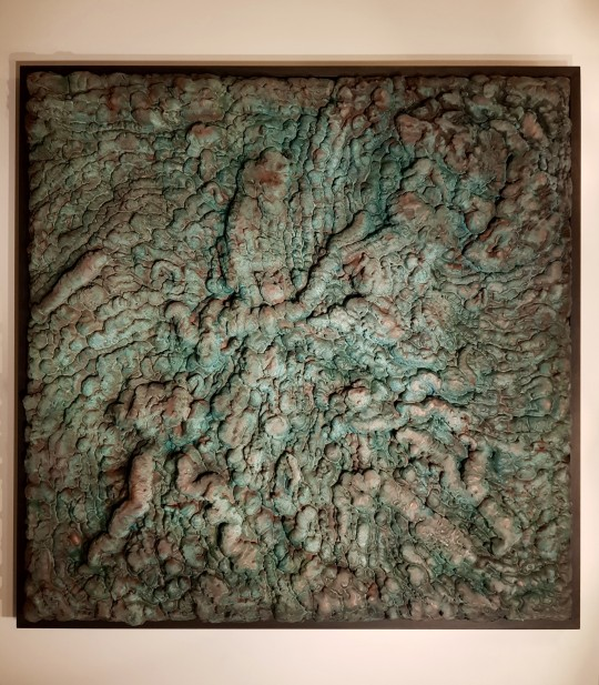 Untitled Art piece 130cm x 130cm Copper coated tatnished wall sculpture P.O.A.