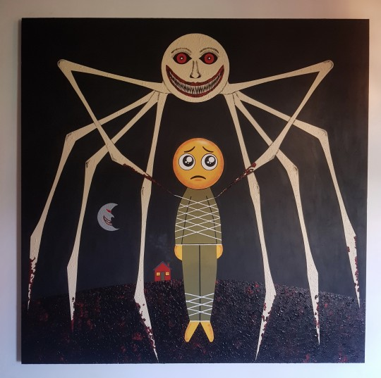 Bad Dreams 122cm x 122cm Acrylic on plywood.